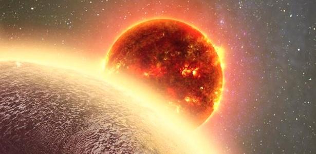 Análises indicam que  GJ 1132, descoberto em 2015, que tem 1,4 vezes o tamanho da Terra - Arte Dana Berry