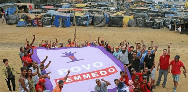 Ocupação do MTST, Povo Sem Medo, em São Bernardo, no ABC paulista - Reprodução/Facebook/MTST
