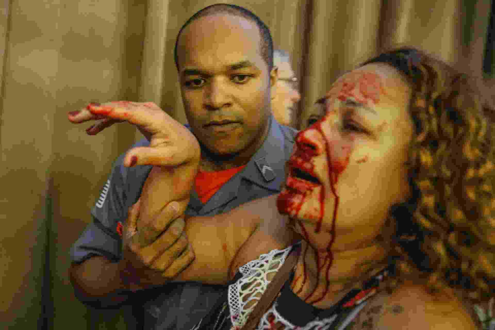 Professora é ferida durante confusão na Câmara Municipal de São Paulo - Suamy Beydouni/Estadão Conteúdo