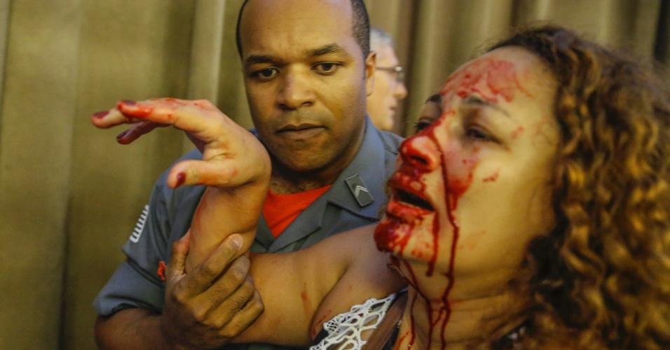 Professora é ferida durante confusão na Câmara Municipal de São Paulo