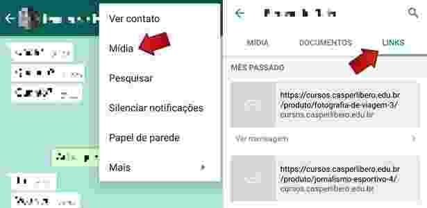 Encontre links enviados no WhatsApp com rapidez 2 - Reprodução - Reprodução