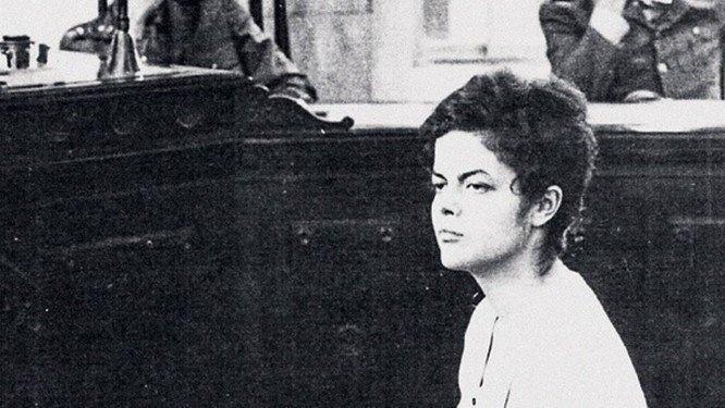 04.out.2018 -- Dilma Rousseff durante interrogatório militar em 1970,