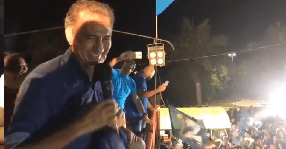 28.out.2018 - Reeleito para o quarto mandato como governador do Amapá, Waldez (PDT) comemorou a vitória com 52,35% dos votos em Macapá