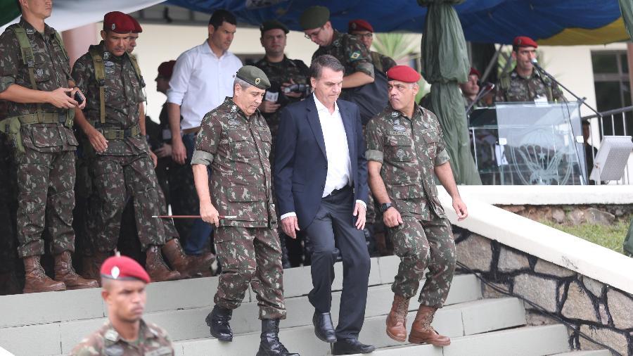 Bolsonaro participou de evento do Exército neste sábado (24), no Rio - FÁBIO MOTTA/ESTADÃO CONTEÚDO