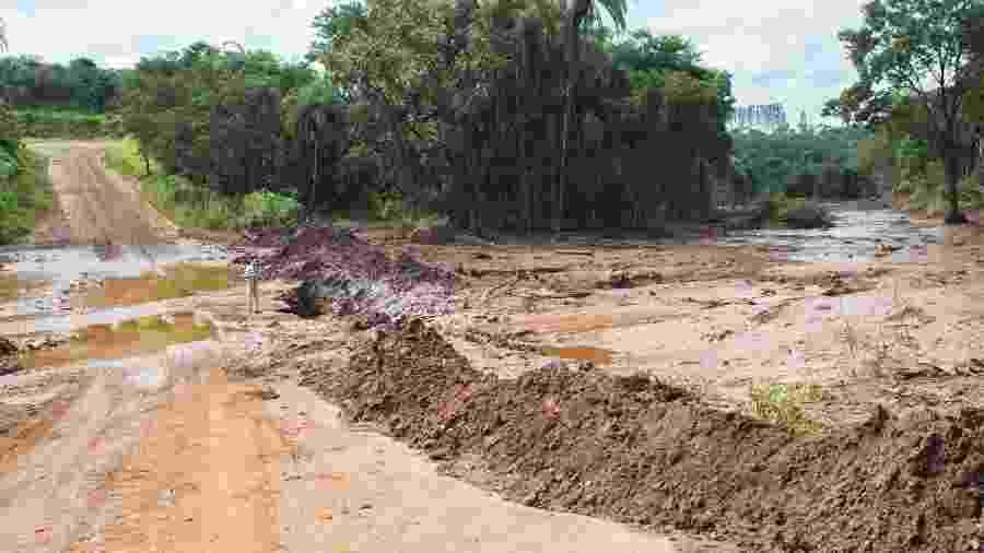 5.fev.2019 - Estragos causados na Estrada Real, na altura de Brumadinho (MG), após o rompimento da barragem da Vale - MISTER SHADOW/ASI/ESTADÃO CONTEÚDO