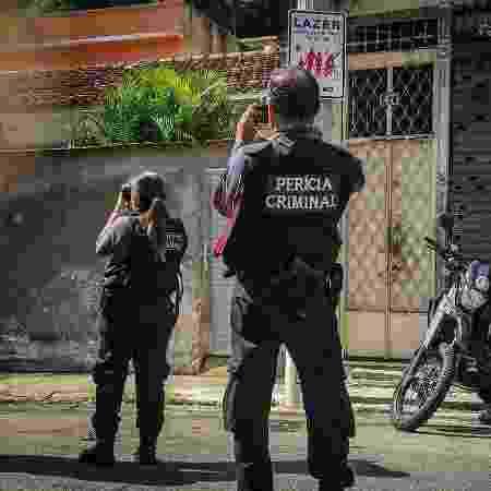 Polícia Civil do Rio faz simulação no Fallet, onde operação da PM deixou 15 mortos em fevereiro - Thathiana Gurgel / DPRJ