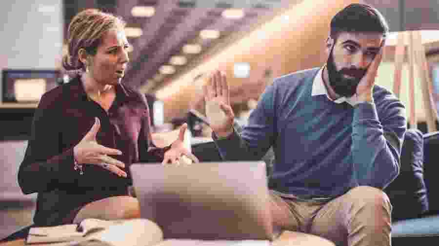 7% das pessoas dizem que não se dão bem com o chefe, de acordo com um estudo - Getty Images