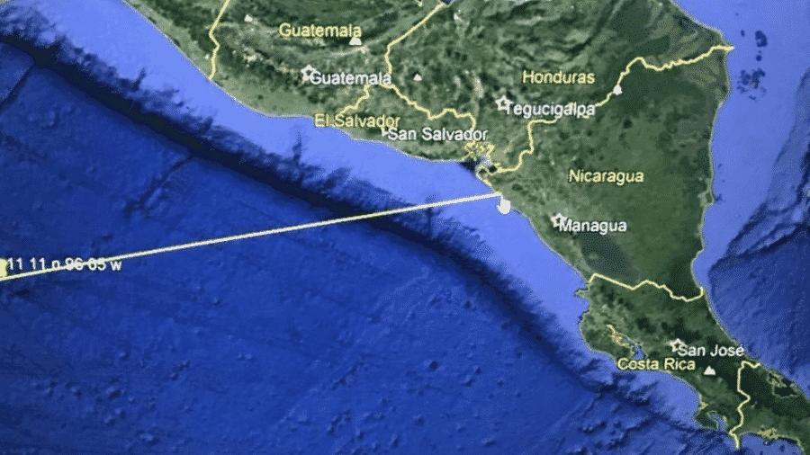 Embaixada dos EUA em El Salvador divulga imagem de possível tsunami na região - Reprodução/Twitter/USEmbassySV