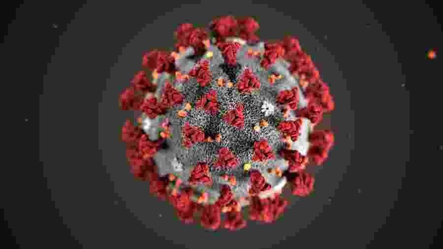 Ilustração do novo coronavírus -