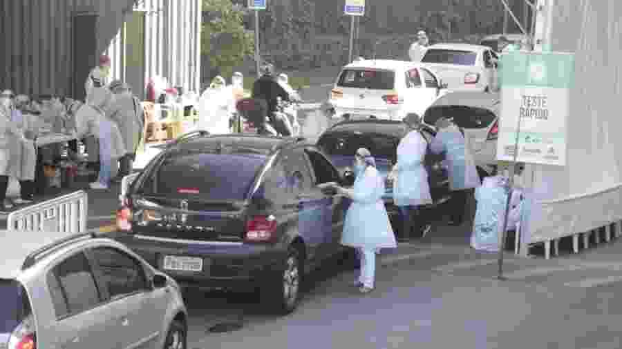 Prefeitura de Santos promove testagem rápida em massa dos moradores da cidade neste sábado (30) - Anderson Bianchi/Prefeitura de Santos