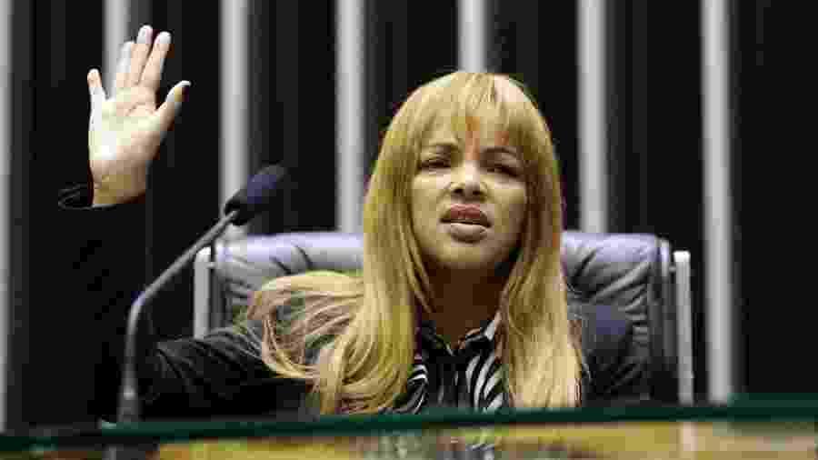 Flordelis (PDS-RJ) é suspeita de ter sido mandante da morte do marido, o pastor Anderson do Carmo - Michel Jesus/Câmara dos Deputados