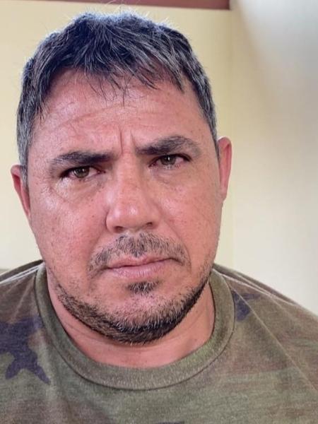 29.mar.2021 - Jorge Teófilo Samudio, o Samurai, após ser detido em Sinop (MT) - Divulgação/Senad