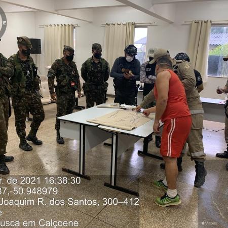 53 homens de forças de segurança estão em megaoperação no Amapá - Divulgação/Corpo de Bombeiros-AP - Divulgação/Corpo de Bombeiros-AP