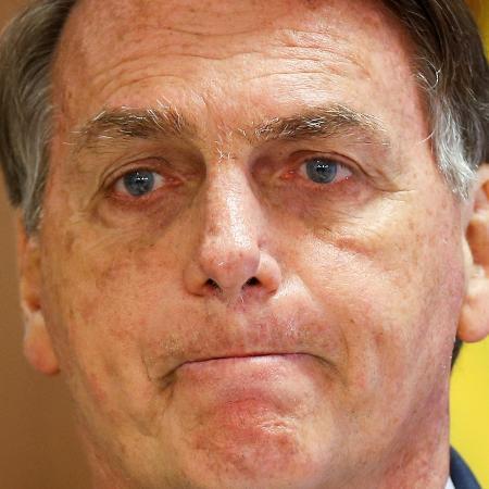 30.jul.2021 - O presidente Jair Bolsonaro (sem partido), em discurso no Palácio do Planalto - Adriano Machado/Reuters