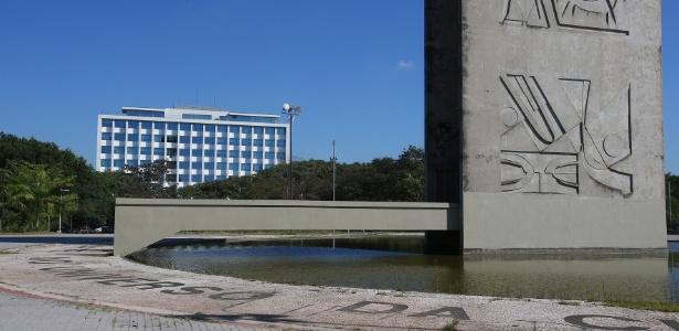 Vista da reitoria da USP a partir da Praça do Relógio, no campus Butantã - Marcos Santos/USP Imagens