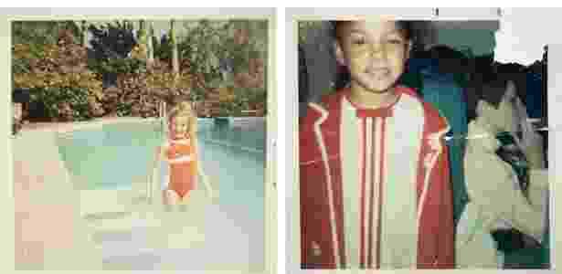 Amy Roost, esquerda, e Angelle Smith, durante a infância - Arquivo pessoal/NYT