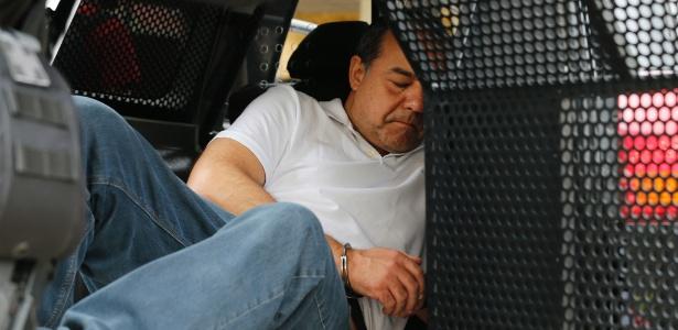 19.jan.2018 - O ex-governador do Rio de Janeiro Sergio Cabral no dia em que foi transferido para Curitiba
