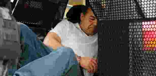 19.jan.2018 - O ex-governador do Rio de Janeiro Sergio Cabral no dia em que foi transferido para Curitiba - RODOLFO BUHRER/FOTOARENA/FOTOARENA/ESTADÃO CONTEÚDO