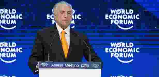 Temer no Fórum de Davos, na Suíça - Xu Jinquan/Xinhua