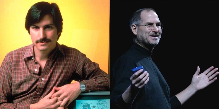 Steve Jobs em 1981 e em 2011