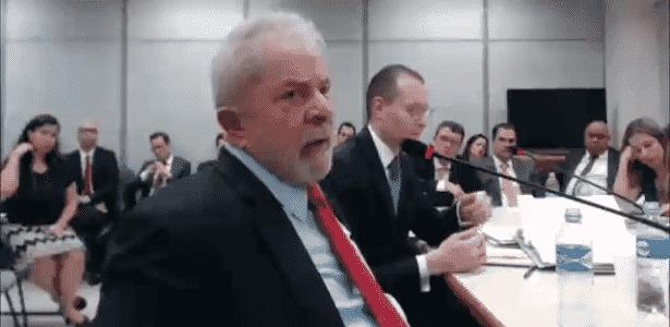 14.nov.2018 - O ex-presidente Lula é interrogado no processo da Lava Jato sobre o sítio de Atibaia - Reprodução/Justiça Federal do Paraná - Reprodução/Justiça Federal do Paraná
