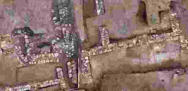 Os arqueólogos gregos descobriram muralhas do contorno de um assentamento de casas que acreditam ser de Tenea - Divulgação/Ministério da Cultura da Grécia