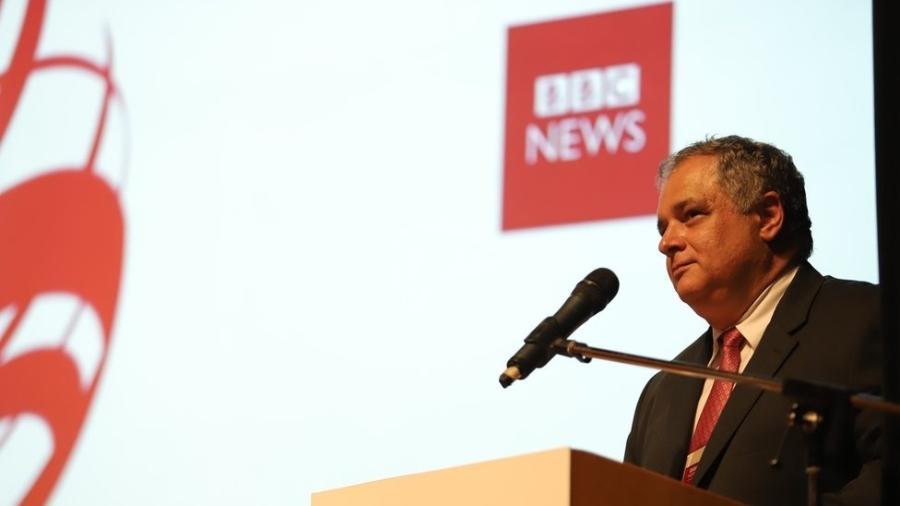 """O vice-procurador-geral eleitoral, Humberto Jacques de Medeiros, participou do seminário """"Beyond Fake News - Em busca de soluções"""", da BBC News Brasil - RODRIGO ONO/BBC"""