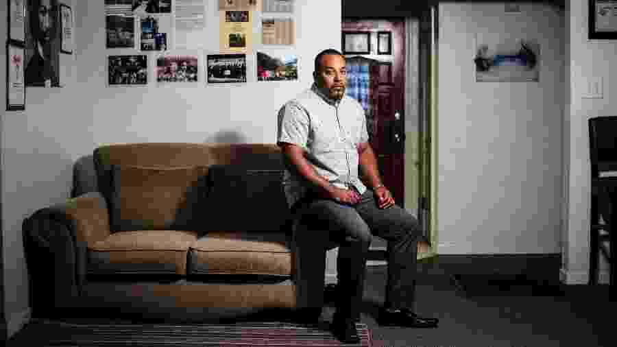 Neko Wilson foi libertado após nove anos de prisão aguardando julgamento quando a Califórnia mudou suas leis de homicídio no ano passado - Max Whittaker/The New York Times