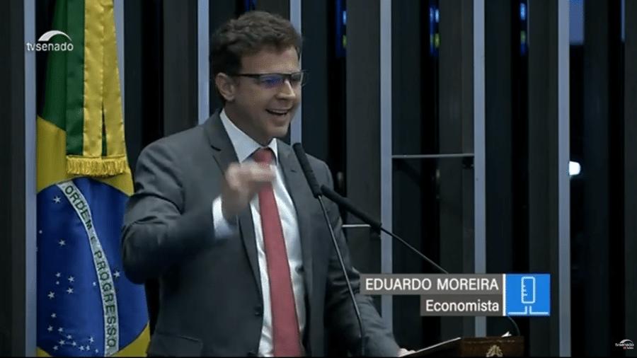 Economista Eduardo Moreira fala em sessão temática no Senado - Reprodução/YouTube