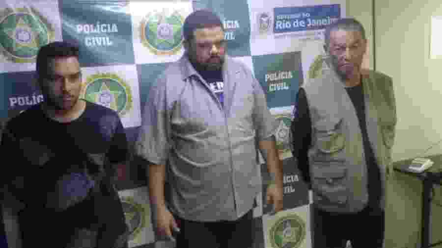 Paulo Barbosa dos Santos, 70, Alberto Oliveira dos Santos, 42, e Bruno Santos Pereira, 23, foram presos sob suspeita de estelionato - Divulgação/Polícia Civil-RJ