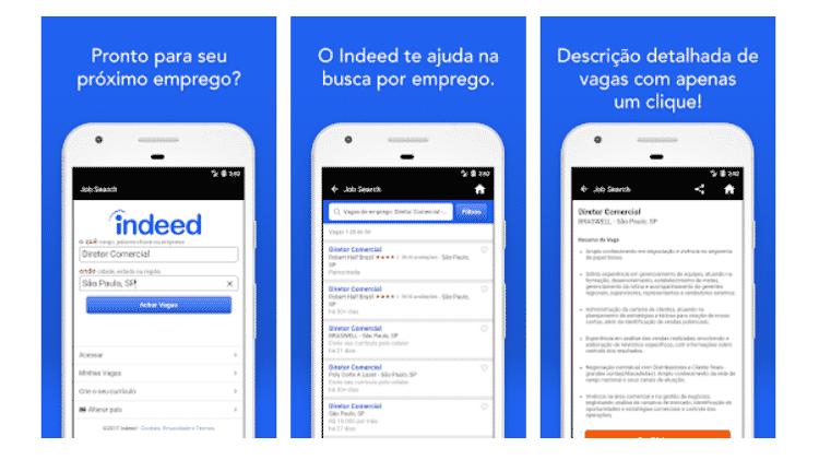 Indeed: aplicativos para conseguir um trabalho ou mudar de emprego - Reprodução - Reprodução