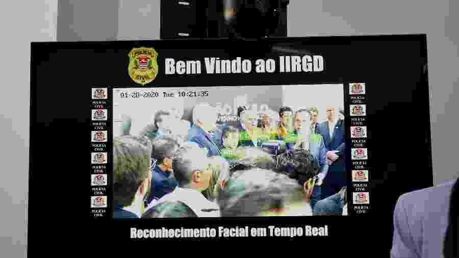 Sistema de reconhecimento facial da Polícia Civil de SP funciona apenas para fotos, mas será usado para monitoramento ao vivo durante o Carnaval - Divulgação/IIRGD/DIPOL