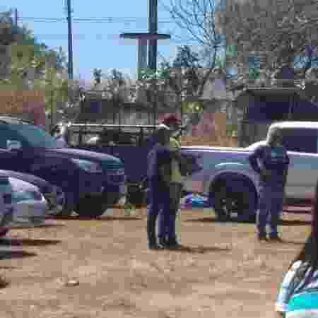 12.jul.2020 - Vaquejada é interrompida em Teresina e participantes fogem - Guarda Municipal de Teresina