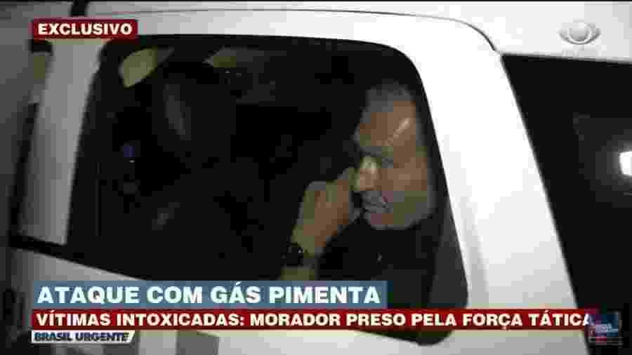 Suspeito de intoxicar quatro moradores em hotel na região dos Jardins, em São Paulo - Reprodução/TV Bandeirantes