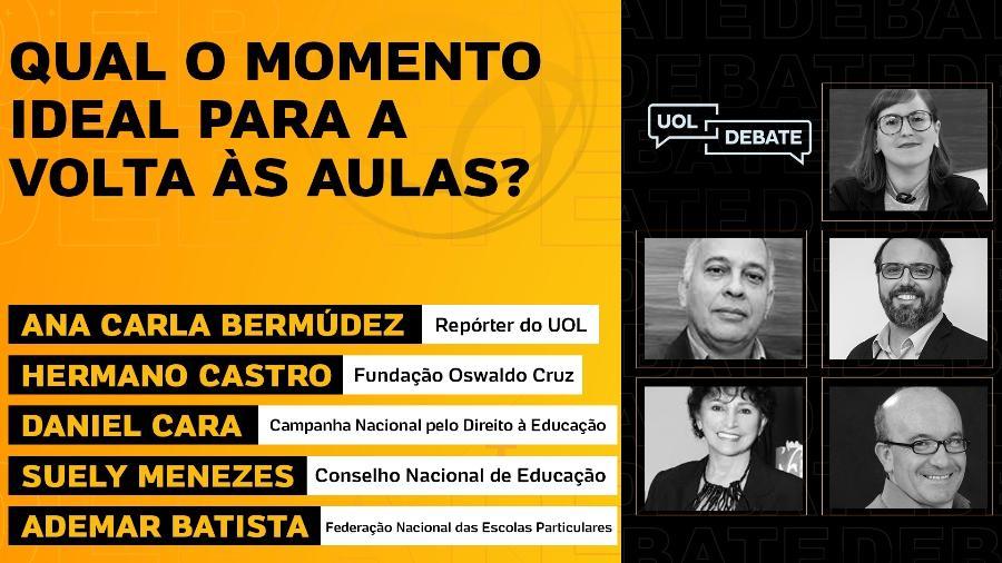 UOL Debate: Qual o momento ideal para a volta às aulas? (17/08/20) - Arte/UOL