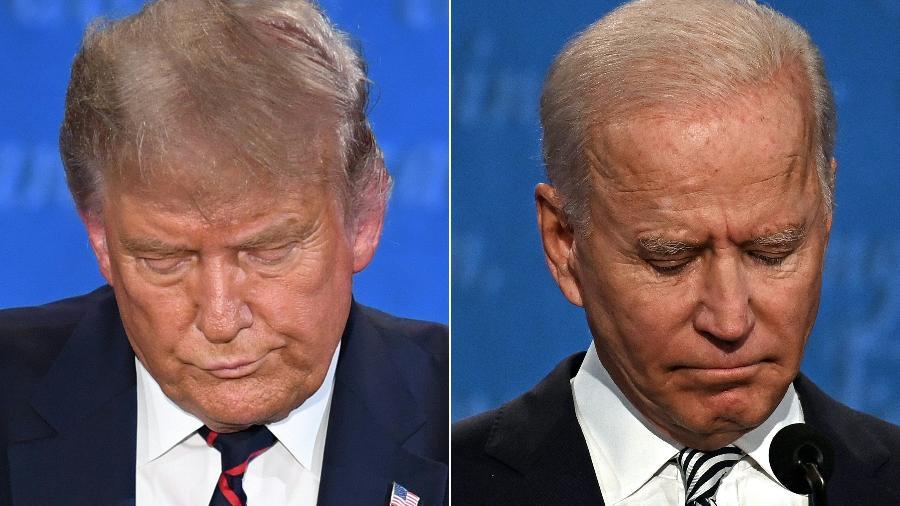 Trump e Biden  - Jim Watson/Saul Loeb/Montagem/AFP