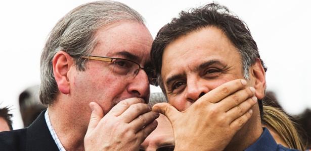 Ação de 2016 visava ajudar Cunha (e), mas pode beneficiar Aécio (d)
