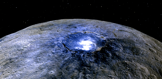 Astrônomos começaram a solucionar os misteriosos pontos brilhantes do planeta anão - Nasa