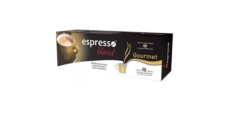 Espresso Blend Gourmet R$ 14,90 ? caixa com 10 unidades- O frete gratuito acima de R$100 para entregas no estado de São Paulo e nas cidades de Belo Horizonte, Curitiba, Florianópolis e Rio de Janeiro.