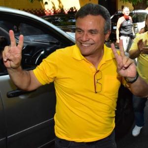2.out.2016 - O então candidato à prefeitura pelo PSDB, Zenaldo Coutinho, no dia da votação no 1º turno