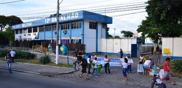 Sede do 12º BPM, em Niterói, na região metropolitana do Rio de Janeiro