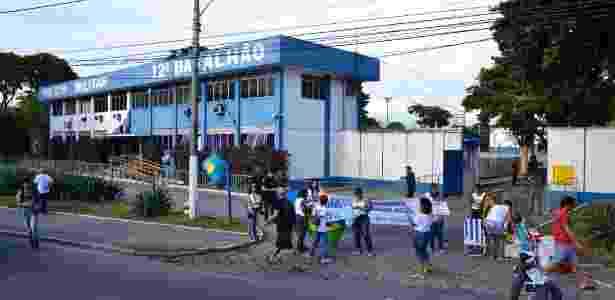 Sede do 12º BPM, em Niterói, na região metropolitana do Rio de Janeiro - Rommel Pinto/Agência O Dia/Estadão Conteúdo