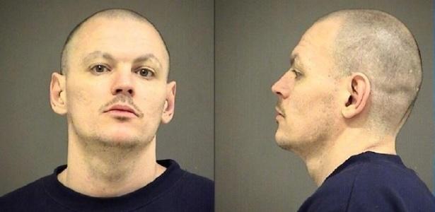 Tyler Haugewood foi preso por roubar um carro de varrer ruas