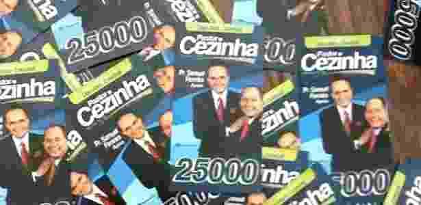 Material de campanha do deputado estadual Cezinha de Madureira (DEM-SP) em 2014: impressão de santinhos como estes no valor de R$ 16 foi parar na delação da JBS - Reprodução/Instagram