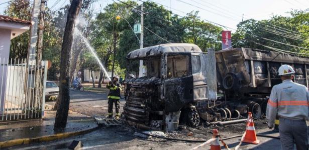 Quadrilha ataca prédio de empresa de valores e mata policial civil em Araçatuba (SP)