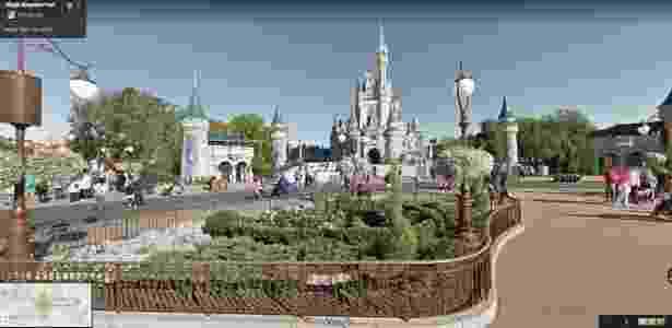 Google Maps Street View - Magic Kingdom Disney - Reprodução - Reprodução