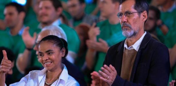 Ao lado de Eduardo Jorge, seu candidato a vice, a ex-senadora Marina Silva foi oficializada como candidata à Presidência pela Rede