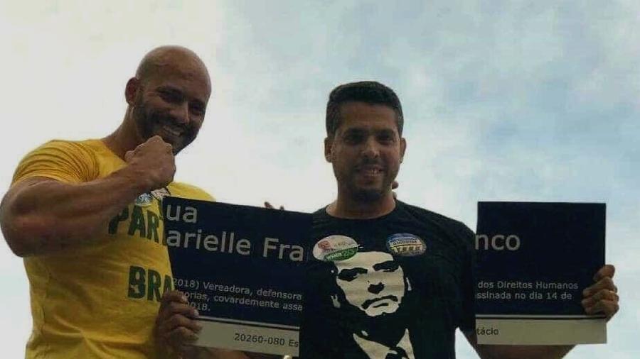 """O deputado federal Daniel Silveira (PSL), à esquerda, propôs uma lei que obriga a doação de órgãos em caso de pessoas mortas com """"indícios de resultado de ação criminosa."""" - Reprodução"""