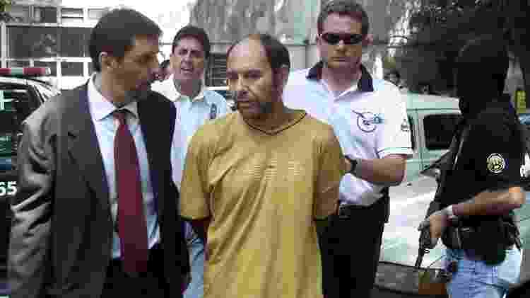 Chileno Mauricio Hernández Norambuena, preso em fevereiro de 2002 - Paulo Whitaker/Reuters/Arquivo - Paulo Whitaker/Reuters/Arquivo