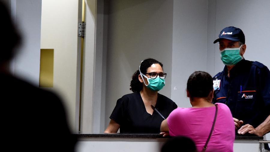 Hospital Regional da Asa Norte HRAN, local de internação do 1º caso confirmado de coronavírus da capital - Claudio Reis/FramePhoto/Folhapress